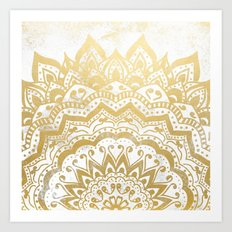 GOLD ORION JEWEL MANDALA Art Print