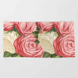 Rose Garden Beach Towels Society6