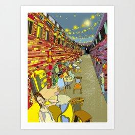Le Cafe de Nuit  Art Print