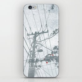 Flowers on the Power Lines iPhone Skin