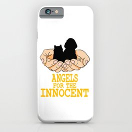 """""""Angels For The Innocent"""" tee design. Stay blessed and glorious with this gift from above tee design iPhone Case"""