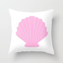 Seashell (Pink & White) Throw Pillow