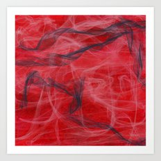Red and Smoke Art Print