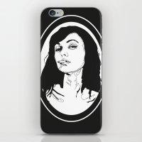 smoking iPhone & iPod Skins featuring Smoking by Anna McKay