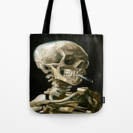 Vincent van Gogh Smoking Skeleton Tote Bag
