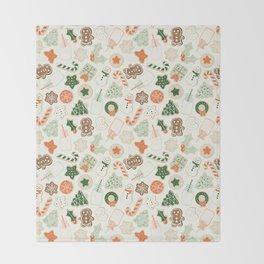 Christmas Cookies Throw Blanket