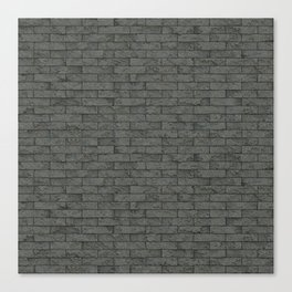 Grey Stone Bricks Wall Texture Canvas Print