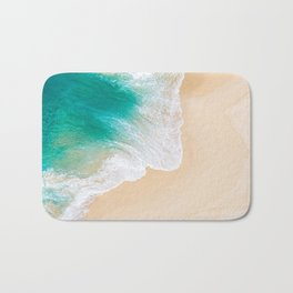 Sand Beach - Waves - Drone View Photography Bath Mat