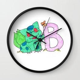 B is for Bulb A Saur Wall Clock