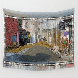 CONSTRUCTION SITE POKHARA NEPAL Wall Tapestry