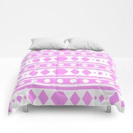 Pink Pattern Tribal Comforters