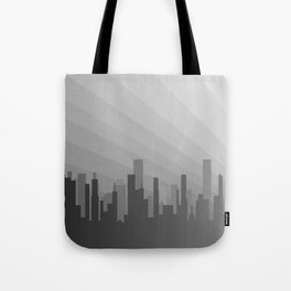 City Greyscape Tote Bag
