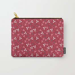 Deep red floral bandana print Carry-All Pouch