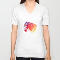 horse V-neck T-shirts featuring horse  by mark ashkenazi