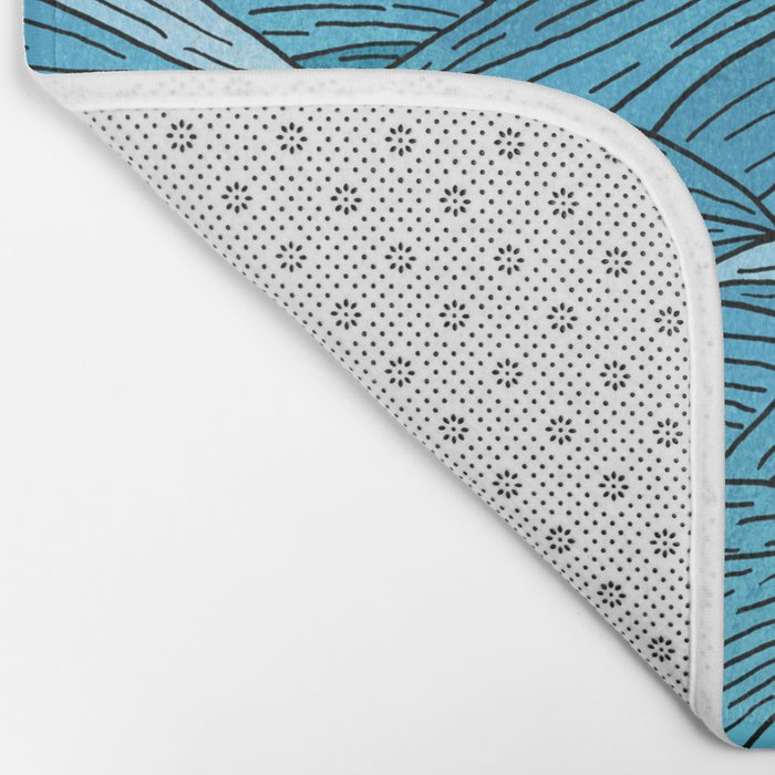 The Blue Sea Bath Mat