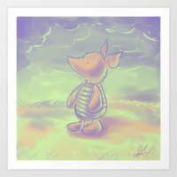 piglet Art Prints featuring Piglet by Jennifer Kathryn Lee