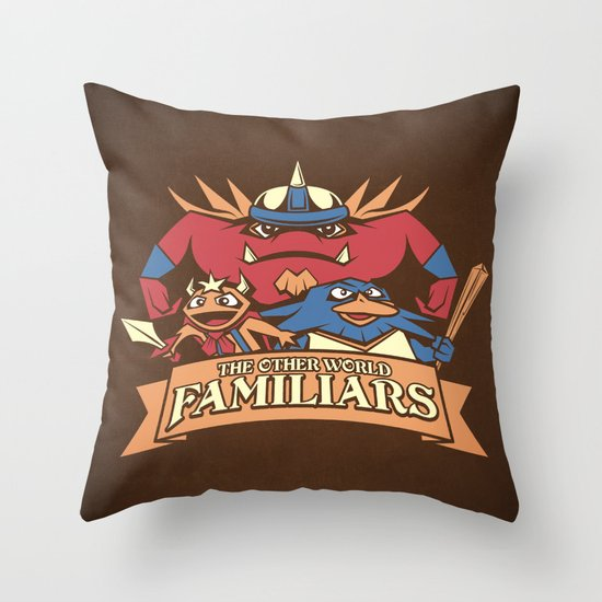 The Other World Familiars Throw Pillow