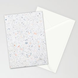 Natural Terrazzo Stone Stucture Pattern Pastel Stationery Cards