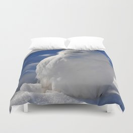 Snowy in the Snow by Teresa Thompson Duvet Cover