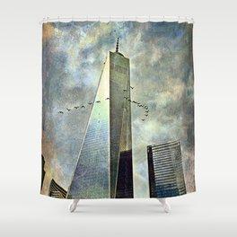 Skyline shift Shower Curtain