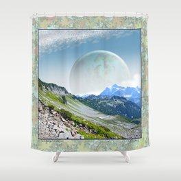 PLANETARY COMPANION Shower Curtain