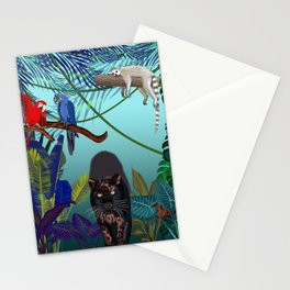 Night in the wild jungle  Stationery Cards
