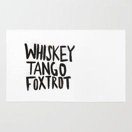 Whiskey Tango Foxtrot Rug
