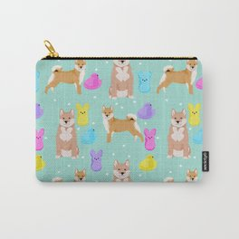 Shiba Inu dog breed peeps marshmallow easter spring dog pattern gifts Shiba Inus Carry-All Pouch