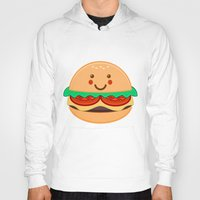 burger Hoodies featuring Burger by AnishaCreations