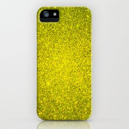 Beryl Yellow Sparkling Jewels Pattern iPhone Case
