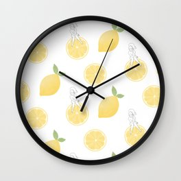 Lemon Girl Pattern Wall Clock
