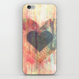 Vintage overlay heart Abstract iPhone Skin