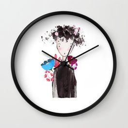 Flower girl Wall Clock