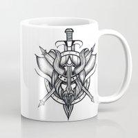 viking Mugs featuring Viking by Liz Guhl @lizaguhl