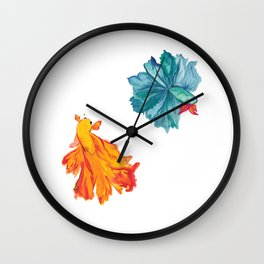 Siamese Fighter/Lover Fish Wall Clock