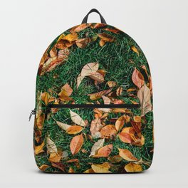 Red And Orange Autumn Leaves Background In Fall Season, Autumn Season, Fall Background, Falling Leaf Backpack