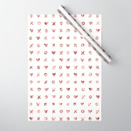 XOXO Love Me Rose Gold Pattern Wrapping Paper