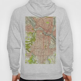 Vintage Map of Youngstown Ohio (1951) Hoody