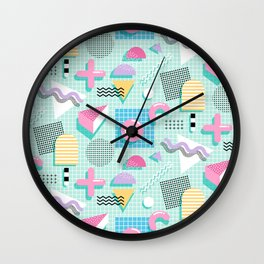 Memphis Sweet Candies Wall Clock