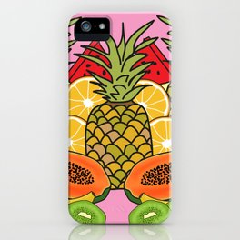 Pink Tropical Fruit iPhone Case