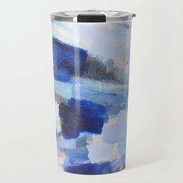 Blues - abstract art Travel Mug