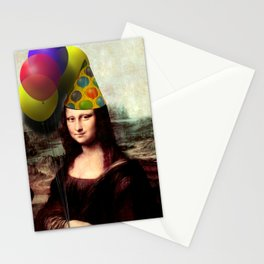 Mona Lisa Birthday Girl Stationery Cards