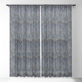 Midnight Exploration Sheer Curtain