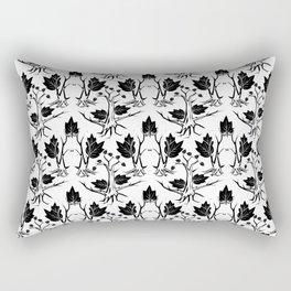 Pattern tree black Rectangular Pillow