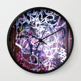 Bathroom Graffiti II Wall Clock