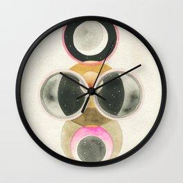 Moon and Orbs Wall Clock