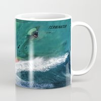 terminator Mugs featuring Terminator by Anthony M. Davis