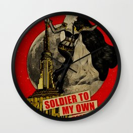 Soldier To My Own Emptiness Wall Clock