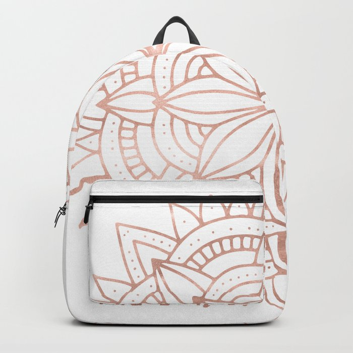 Mandala Rose Gold Pink Shine Backpack