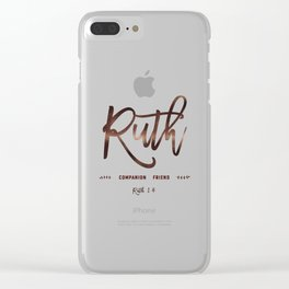 Christian name   Ruth Clear iPhone Case